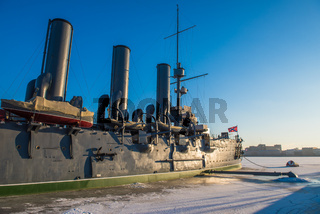 Linear cruiser Aurora, the symbol of the October revolution, Saint Petersburg, Russia