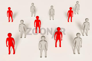 Group of coloured 3D characters