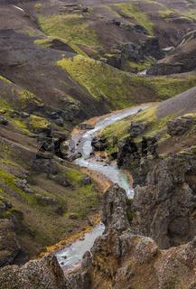 River Mountains Kerlingarfjoll Iceland