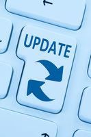 Computer Software Update aktualisieren Schutz vor Virus blau online web