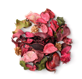 Top view of potpourri
