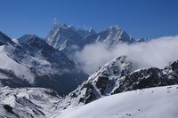 Mount Kangtega and Thamserku seen from Gokyo, Nepal.