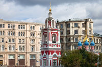 bell tower of Church of St George in Moscow