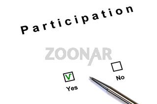 Participation yes / no