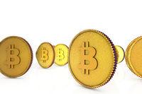 3d golden bitcoin