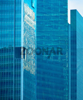Glass walls of Skyscrapers, Singapore