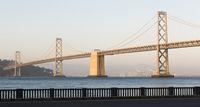 Panoramic Composition Bay Bridge San Francisco California Transportation
