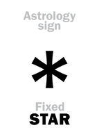Astrology: STAR fixed