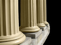 Columns on Black