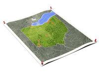 Ohio on unfolded map sheet.