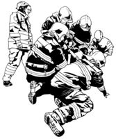 Firefighters and Rescuer