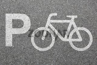 Parkplatz Fahrrad parken Rad Verkehr Stadt Mobilität
