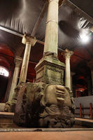 Gorgon Medusa. The Basilica Cistern Istanbul, Turkey