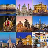 Collage of Vienna Austria travel images (my photos)
