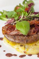 Steak auf Kartoffelgratin