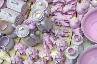 Ceramic ware under production