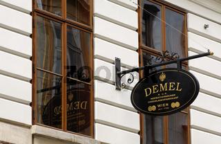 K.u.K. Geschäftsschild, Wien, Oesterreich