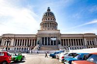 Havana, Cuba - December 12, 2016: The Capitol in Havana near the Central Park