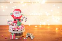 Kleiner Cupcake zu Weihnachten
