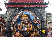 Hinduistischer Gott Kala Bhairav,Hanuman Dhoka Durbar Square, Kathmandu, Nepal