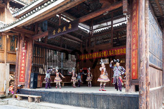 dancers in Dong Culture Show in Chengyang