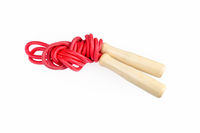 red rope skipping isolated