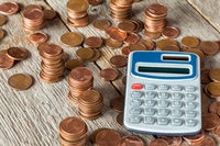 Digital calculator and Euro cents