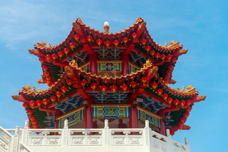 Colorfull decorative tower in chenese temple