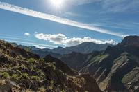 Blick auf Tal im Gebirge von Gran Canaria