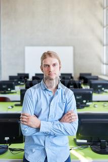 Informatik Student in einem Computer Seminar