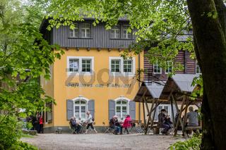 Ausflugslokal am Kuhstein-Felsen in Sachsen