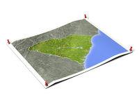 South Carolina on unfolded map sheet.