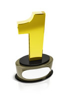 a golden number one trophy