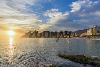 Sunset at Arpoador and Ipanema beaches
