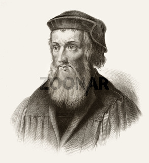 John Wycliffe, Doctor evangelicus, 1330 - 1384, an English philosopher, theologian and church reformer