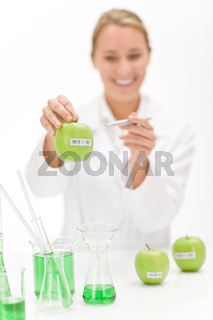 Genetic engineering - scientist in laboratory