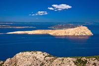 Goli Otok island in Velebit channel of Croatia