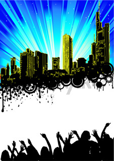 Blue Cooler City Party Flyer.eps