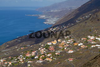 View of Village from San Antonio Volcano on Las Palmas at Canary Islands