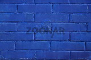 Blaue Ziegelmauer