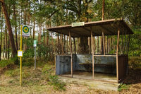 Bushaltestelle Schoenholz bei Rhinow, Brandenburg, Deutschland