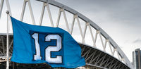 The Twelveth Man Flag Seattle Washington Footbal Stadium
