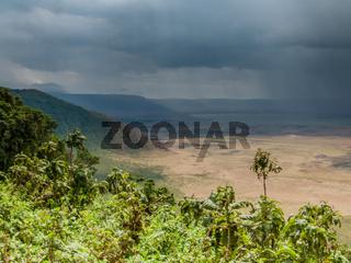 Rain Storm in the Ngorongoro Crater