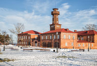Renovated historic fire station with watch tower in Sviyazhsk