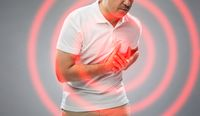 close up of man suffering from heart ache