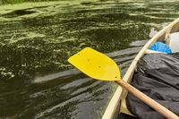 Canoing on a river