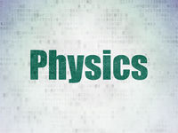 Studying concept: Physics on Digital Data Paper background