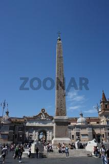 Rom, Obelisk auf der Piazza del Popolo
