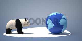 panda and the earth