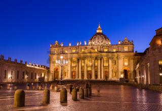 Sant Peters Basilica in Vatican - Rome Italy